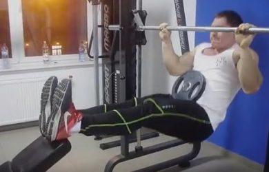 Los rack chins para ganar masa muscular en bíceps